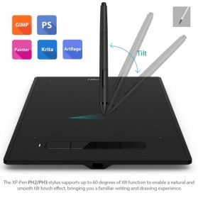 XP-Pen Star G960S Plus Graphics Digital Drawing Tablet with PH2 Passive Pen - Black - 6