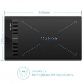 XP-Pen Star 03 V2 Graphics Digital Drawing Tablet with Passive Pen - Black - 2