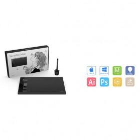 XP-Pen Star 03 V2 Graphics Digital Drawing Tablet with Passive Pen - Black - 5