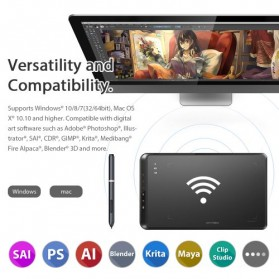 XP-Pen Wireless Smart Graphics Drawing Pen Tablet with Passive Pen - Star 05 V2 - Black - 7