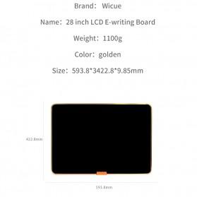 Wicue LCD Blackboard Digital Drawing Tablet Papan Gambar 28 Inch - W2801 - Black - 7