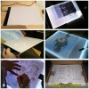 Pen Tablet / Graphic Tablet - LED Tracing Light Pad Graphics Drawing Tablet A4 Paper - K2L04 - Black
