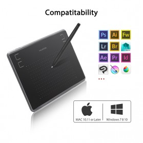HUION Papan Gambar Digital Graphics Drawing Pen Tablet 4 Inch - H430P - Black - 5