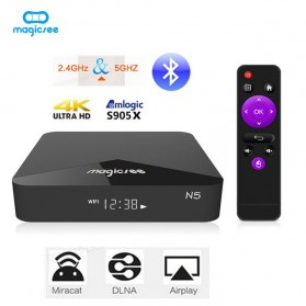 MAGICSEE N5 Mini Smart TV Box Android 7.1 4K 2/16GB - Black