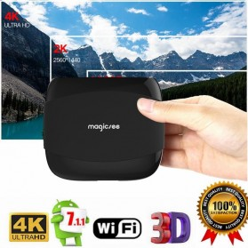 MAGICSEE N4 Mini Smart TV Box Android 7.1 4K 2/16GB - Black - 1