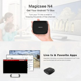 MAGICSEE N4 Mini Smart TV Box Android 7.1 4K 2/16GB - Black - 3