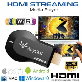 Yehua AnyCast Chromecast Airplay DLNA HDMI Dongle Wifi 1080P - M9 - Black