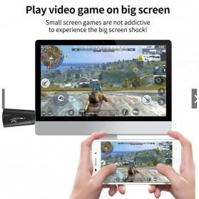 Yehua AnyCast Chromecast Airplay DLNA HDMI Dongle Wifi 4K 5G - K8 - Black - 3