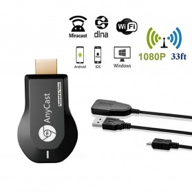 Yehua AnyCast Chromecast Airplay DLNA HDMI Dongle Wifi 1080P - M4 Plus - Black