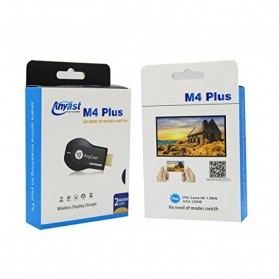 Yehua AnyCast Chromecast Airplay DLNA HDMI Dongle Wifi 1080P - M4 Plus - Black - 9