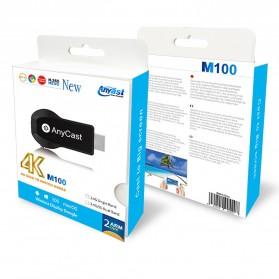 AnyCast Chromecast Airplay DLNA HDMI Dongle WiFi Dual Core 4K HD 2.4GHz - M100 - Black - 10