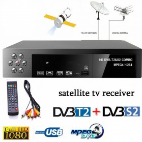 Montage VT6000 Smart Digital Satellite TV Box Receiver 1080P DVB-T2 + DVB-S2 - Black