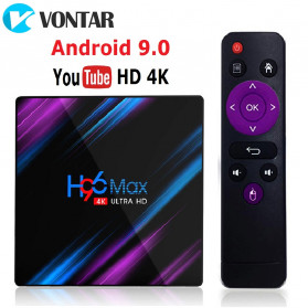 Vontar Mini Smart TV Box 4K Android 9.0 4GB 64GB with Voice Remote - H96 MAX - Black - 2