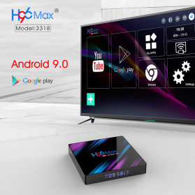 Vontar Mini Smart TV Box 4K Android 9.0 4GB 64GB with Voice Remote - H96 MAX - Black - 6