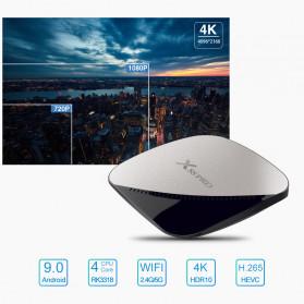 X88 Pro Air Smart TV Box Android 9.0 4K 4/32GB - Black - 4