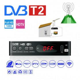 Taffware Digital Satellite TV Tuner Box Receiver Youtube H.265 1080P DVB-T2 - DZ084 - Black