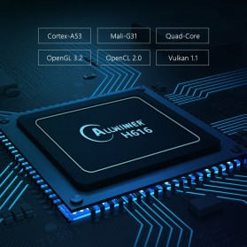 DQiDianZ Mini Smart TV Box 4K HDR Android 10 4GB 32GB - X96Q Max - Black - 3