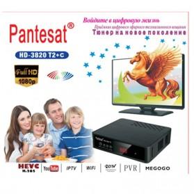 Pantesat Digital TV Tuner Set Top Box WiFi Receiver DVB-T2 - HD-3820 - Black - 1