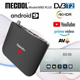 MECOOL Smart TV Box Receiver Android 9.0 4K HDR DVB-T2 2GB 16GB - M8S Plus - Black