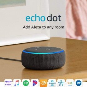 Amazon Echo Dot 3rd Generation Smart Speaker with Alexa - Black - 1
