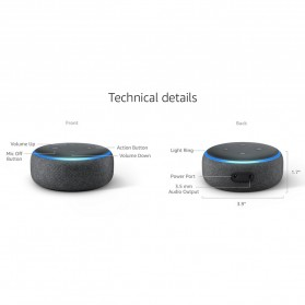 Amazon Echo Dot 3rd Generation Smart Speaker with Alexa - Black - 10