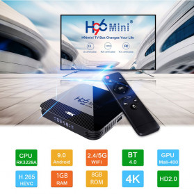 Vontar Mini Smart TV Set Top Box 4K Android 9.0 1GB 8GB - H96 - Black