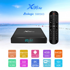 Vontar X96 Air Smart TV Box Android 9.0 4K 4/32GB - Black