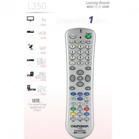 Chunghop Universal Smart Remote Control Learn Function for TV DVD CBL SAT - L350 - Silver - 3