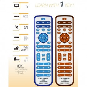 Chunghop Remot Kontrol Universal untuk TV DVD CBL SAT - L660 - White/Blue - 3