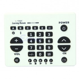 Chunghop Universal Smart Remote Control Learn Function for TV DVD CBL SAT - L199E - White - 2