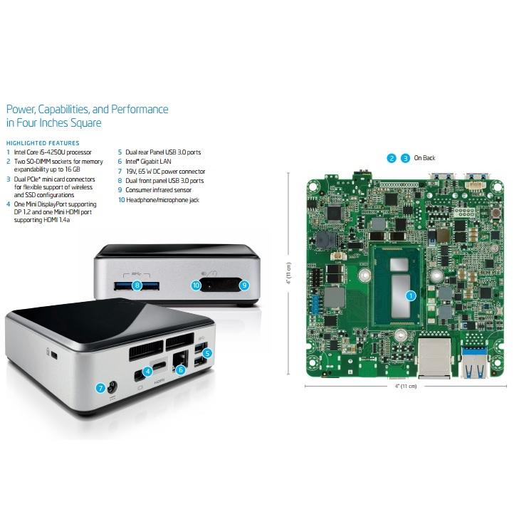 Intel NUC Complete Set Mini PC - BOXD54250WYK2 - Black