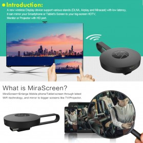 MiraScreen G2 WiFi Display Dongle Full HD 1080P - Black - 7