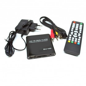 Mini Full HD 1080P HDMI MultiMedia HDD Player with TF Card - S-HDDP-2532 - Black - 3
