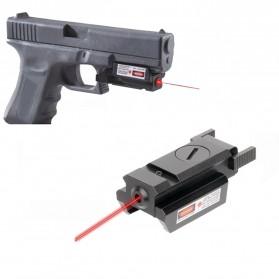 TGPUL Tactical Red Dot Infrared Hunting Laser Sight Gun Mount Airsoft Rifle Pistol - CS3 - Black