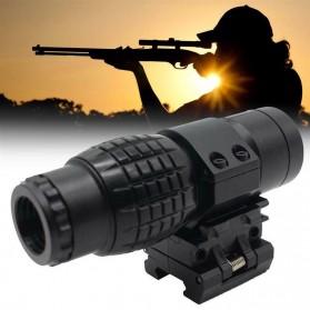 RIFLE Teropong Sighting Telescope Tactical Hunting Gun Optical Sight Mount Airsoft Rifle - RI41 - Black