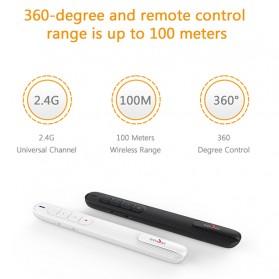 Richat Remote Laser Presenter Wireless Red Pointer 2.4Ghz - RS02 - Black - 7