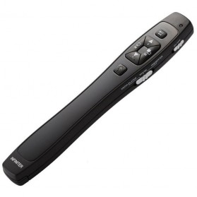 Infiniter Red Wireless Laser Presenter with Media Control - LR8 - Black