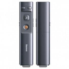 Baseus Orange Dot Wireless Laser Presenter Red Pointer USB Type C 2.4GHz - ACFYB-0G - Gray - 2