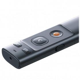 Baseus Orange Dot Wireless Laser Presenter Red Pointer USB Type C 2.4GHz - ACFYB-0G - Gray - 4