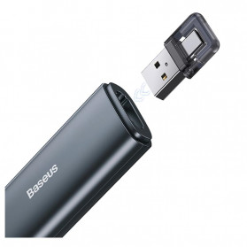 Baseus Orange Dot Wireless Laser Presenter Red Pointer USB Type C 2.4GHz - ACFYB-0G - Gray - 5