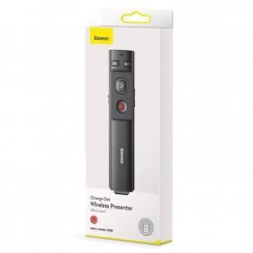 Baseus Orange Dot Wireless Laser Presenter Red Pointer USB Type C 2.4GHz - ACFYB-0G - Gray - 8