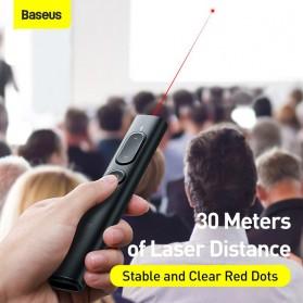 Baseus Remote Laser Presenter Wireless Pointer PPT USB Type C Red Light 2.4Ghz 30 Meter - ACFYB-B01 - Black - 6