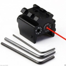 Zacro Tactical Red Dot Laser Sight 532nm Picatinny Mount - L2030 - Black