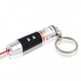 Red Laser Pointer 1mw 450nm + LED Light - Black
