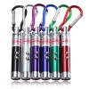 3 in 1 UV Laser Pointer Beam with Keychains - B-03 - Silver