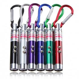 3 in 1 UV Laser Pointer Beam with Keychains - B-03 - White