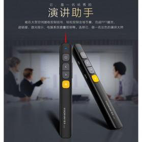 KNORVAY Remote Laser Presenter Wireless Pointer Red Light 2.4Ghz - N29 - Black - 3