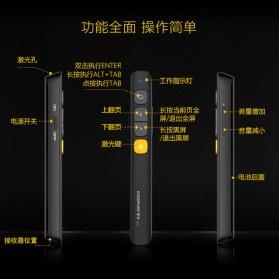 KNORVAY Remote Laser Presenter Wireless Pointer Red Light 2.4Ghz - N29 - Black - 5