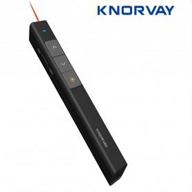 KNORVAY Remote Laser Presenter Wireless Red Pointer 2.4Ghz - N26 - Black