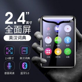 HAIMAITONG MP3 Player Digital Audio Player Bluetooth Touchscreen 4GB - X4 - Black